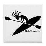 Kokopelli Kayaker Tile Coaster