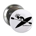 Kokopelli Kayaker Button
