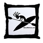 Kokopelli Kayaker Throw Pillow