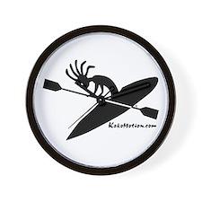 Kokopelli Kayaker Wall Clock