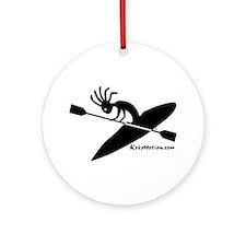 Kokopelli Kayaker Ornament (Round)