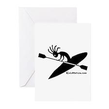 Kokopelli Kayaker Greeting Cards (Pk of 10)