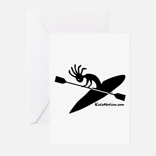 Kokopelli Kayaker Greeting Cards (Pk of 10)