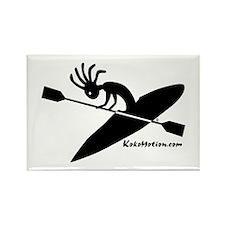 Kokopelli Kayaker Rectangle Magnet (100 pack)