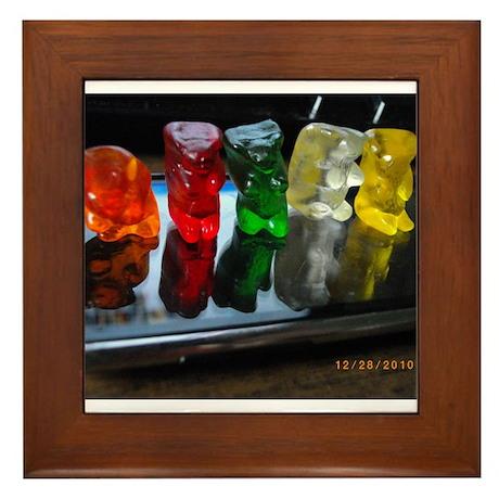 Gummy Bear Friends Framed Tile