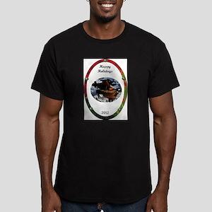 Grand Piano happiness Men's Fitted T-Shirt (dark)