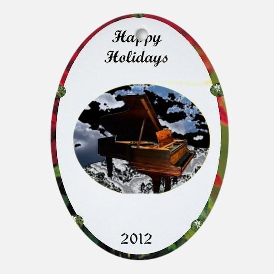 Grand Piano happiness Ornament (Oval)