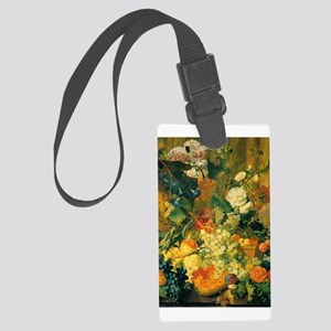Grapes and Hollyhocks Large Luggage Tag