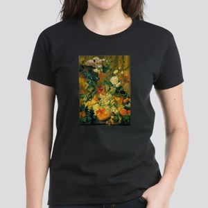 Grapes and Hollyhocks Women's Dark T-Shirt