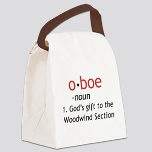 Oboe Definition Canvas Lunch Bag