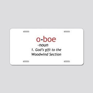 Oboe Definition Aluminum License Plate