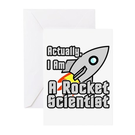 Rocket Scientist Greeting Cards (Pk of 10)