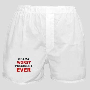 anti obama worst presdarkbumplL Boxer Shorts