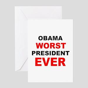 Worst president ever greeting cards cafepress anti obama worst presdarkbumpll greeting card m4hsunfo