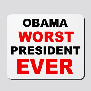 anti obama worst presdarkbumplL Mousepad