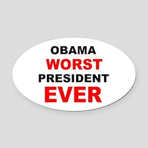 anti obama worst presdarkbumplL.png Oval Car Magne