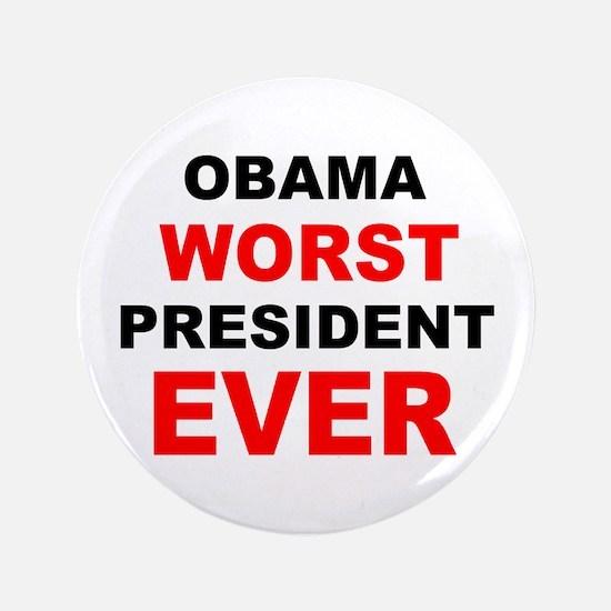 """anti obama worst presdarkbumplL.png 3.5"""" Button"""