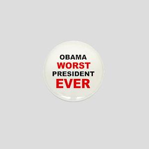 anti obama worst presdarkbumplL Mini Button