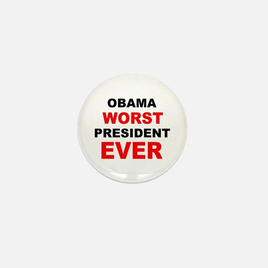 anti obama worst presdarkbumplL.png Mini Button