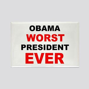 anti obama worst presdarkbumplL Rectangle Magn