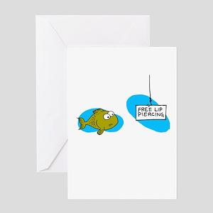 Lip Piercing Greeting Card