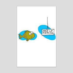 Lip Piercing Mini Poster Print