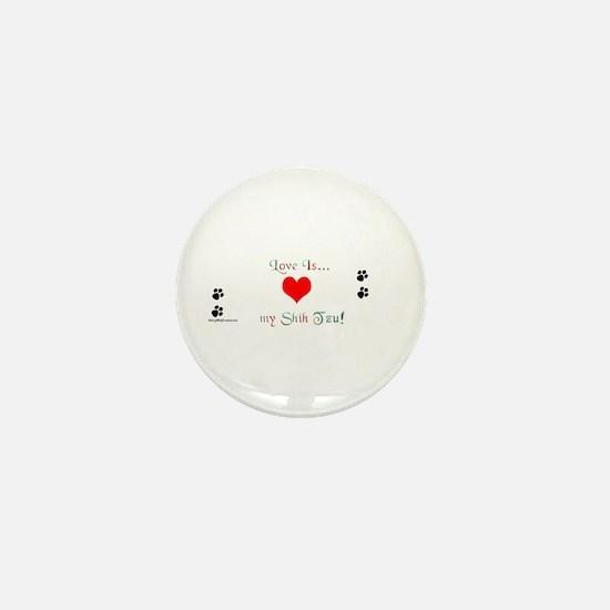 Shih Tzu Love Mini Button