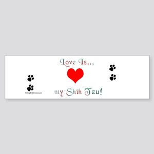 Shih Tzu Love Bumper Sticker