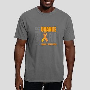 Orange Awareness Ribbon Mens Comfort Colors Shirt