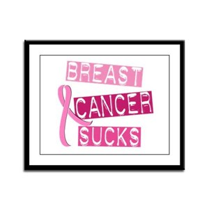 Breast Cancer Sucks 3 Framed Panel Print