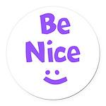Be Nice Round Car Magnet