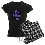 Be Nice Women's Dark Pajamas