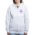 Be Nice Women's Zip Hoodie