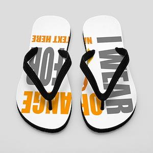 4139629c3b6210 Orange Awareness Ribbon Customized Flip Flops