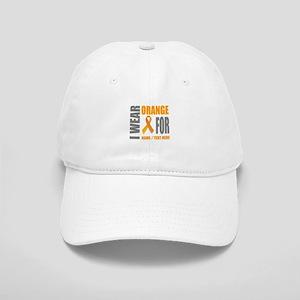 Orange Awareness Ribbon Customized Cap