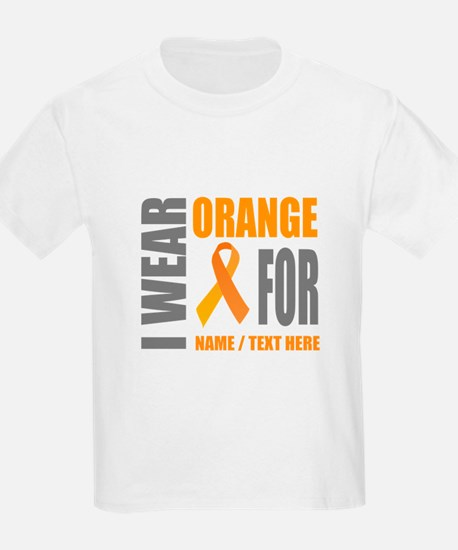 Orange Awareness Ribbon Customi T-Shirt