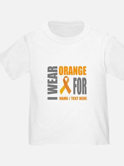 Orange Awareness Ribbon Customized T