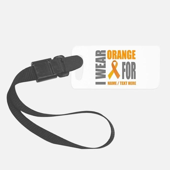 Orange Awareness Ribbon Customiz Luggage Tag