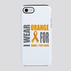 Orange Awareness Ribbon Custom iPhone 7 Tough Case
