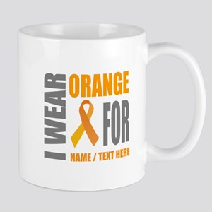 Orange Awareness Ribbon Customiz 11 oz Ceramic Mug