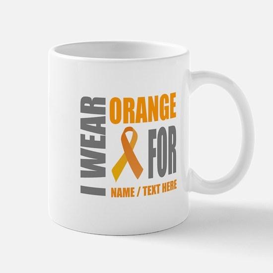 Orange Awareness Ribbon Customiz Mug