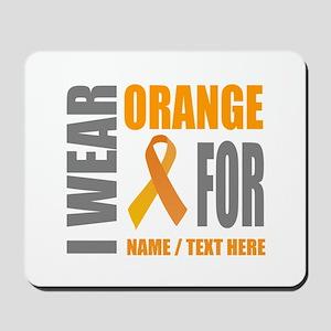 Orange Awareness Ribbon Customized Mousepad