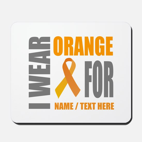 Orange Awareness Ribbon Customized Mousepad