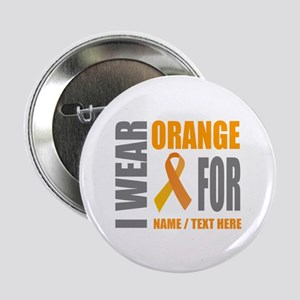 "Orange Awareness Ribbon Customized 2.25"" Button"