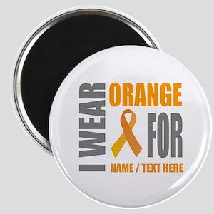 Orange Awareness Ribbon Customized Magnet