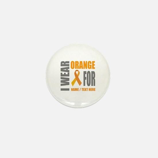 Orange Awareness Ribbon Customized Mini Button