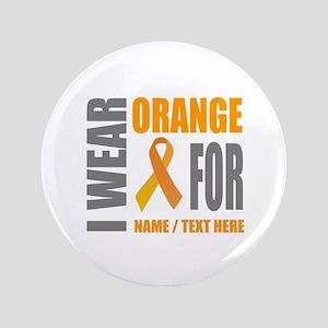 Orange Awareness Ribbon Customized Button