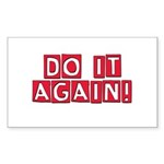 do-it-again-red Sticker (Rectangle 10 pk)