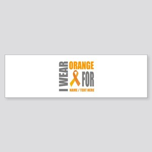 Orange Awareness Ribbon Customize Sticker (Bumper)