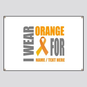 Orange Awareness Ribbon Customized Banner